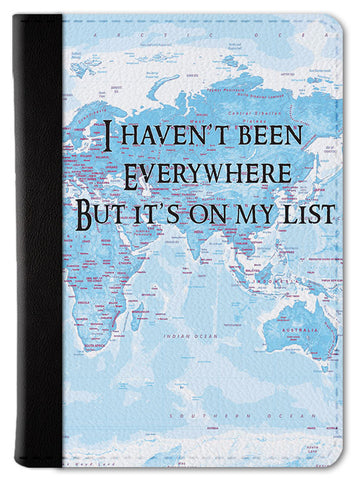 It's On My List Passport Wallet
