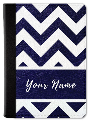 Custom Chevron Passport Wallet