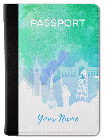 Watercolor Custom Passport Wallet