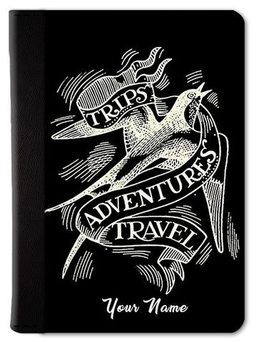 Trips, Adventure & Travel Custom Passport Wallet