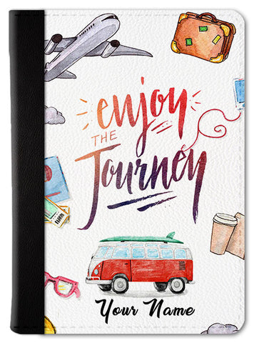 Enjoy The Journey Custom Passport Wallet