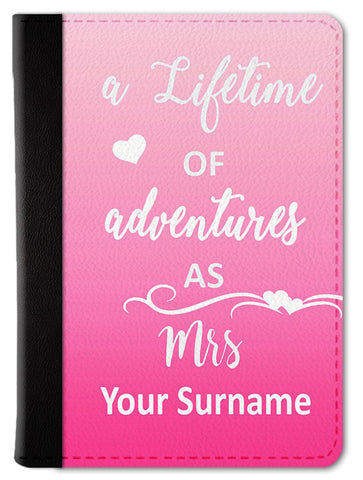 Lifetime Mrs. Custom Passport Wallet