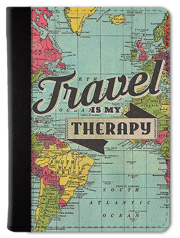 Travel is My Therapy Passport Wallet