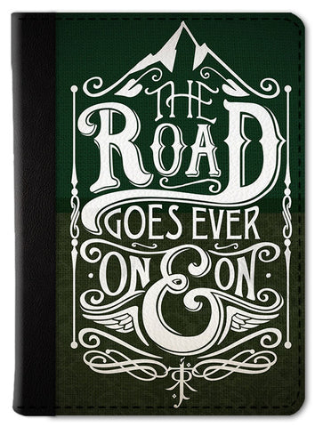 The Road Goes on Forever Passport Wallet