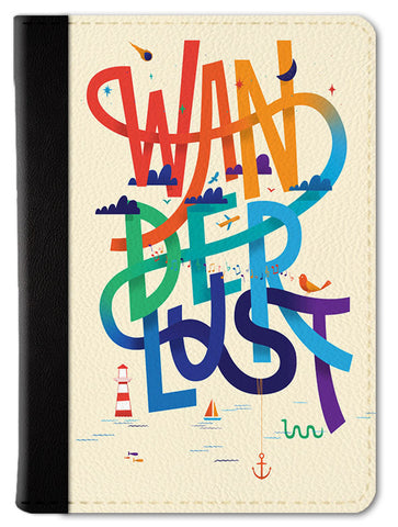 Wanderlust Typography Passport Wallet