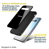 Jet Black Glass Case for Samsung Galaxy S20