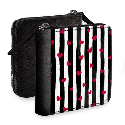 Red Little Hearts Square Wallet
