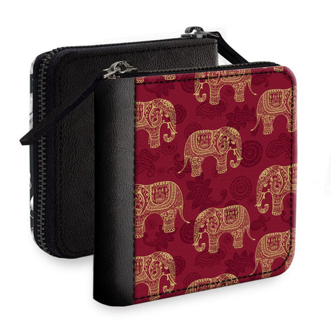 Abstract Elephants Square Wallet