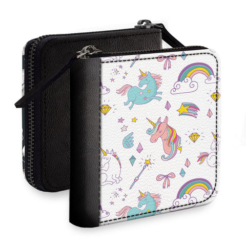 Unicorn With The Rainbow Square Wallet