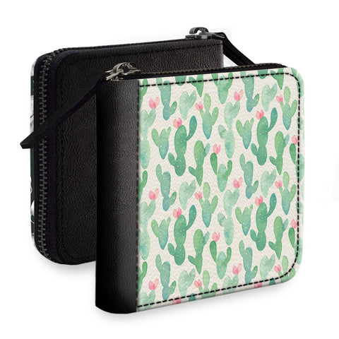 Blurred Cactus Square Wallet