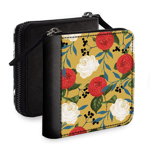 So Many Flowers Square Wallet