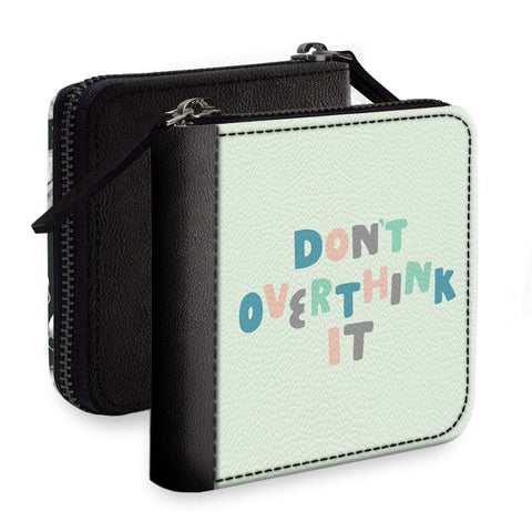 Don't Overthink It Square Wallet