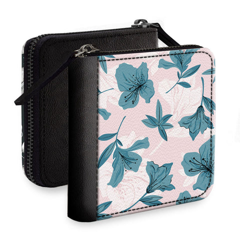 Flower Print Square Wallet