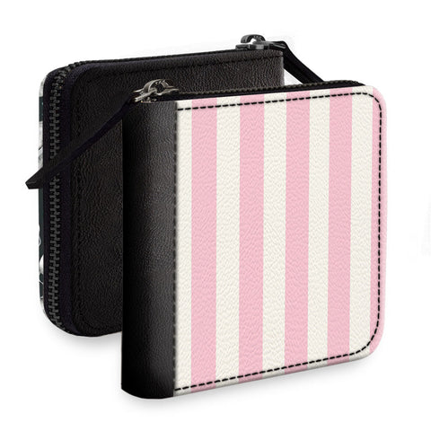 Pink Stripes Square Wallet