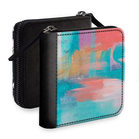 Textured Colors Square Wallet