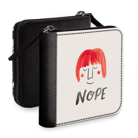 Red Hair Square Wallet