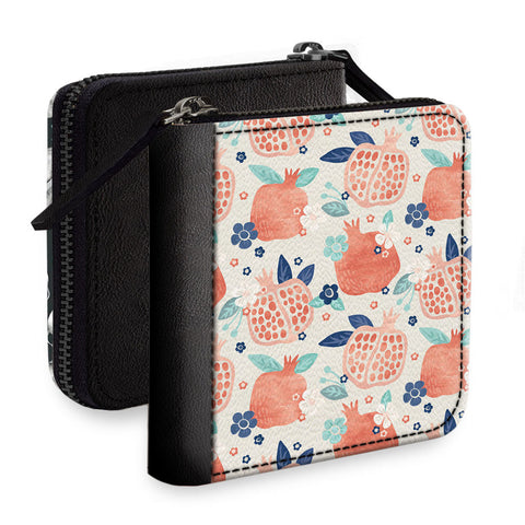 The Pomegranate Love Square Wallet