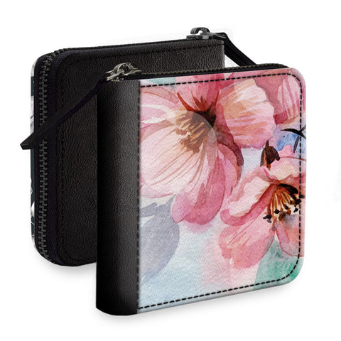 Pinkish Flowers Square Wallet