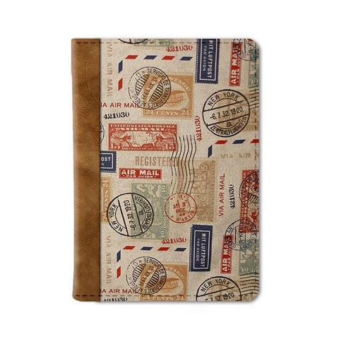 Vintage Stamps Passport Wallet
