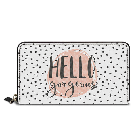 Hello Gorgeous Classic Zipper Wallet