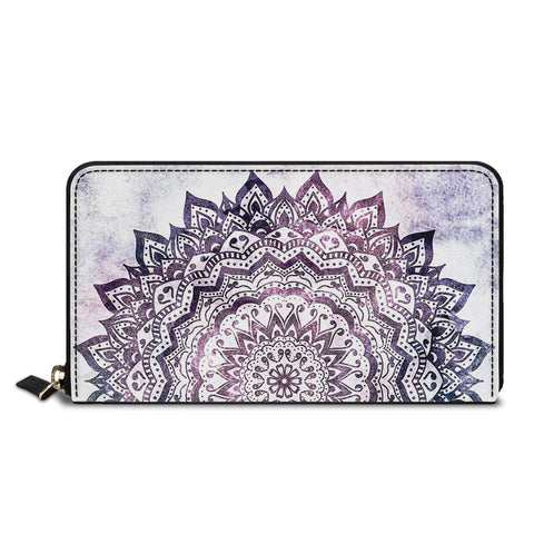 Purple Art Classic Zipper Wallet