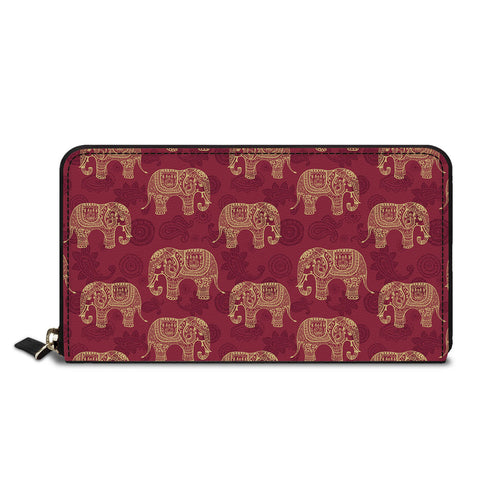 Abstract Elephants Classic Zipper Wallet