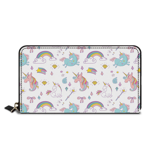 Unicorn With The Rainbow Classic Zipper Wallet