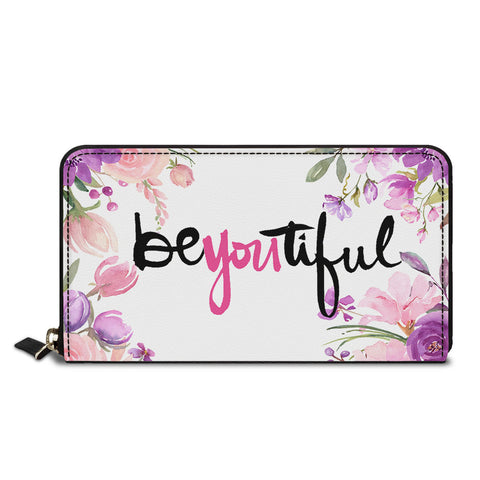 Beautiful Text Classic Zipper Wallet