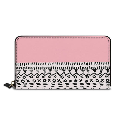 Pink pattern Classic Zipper Wallet