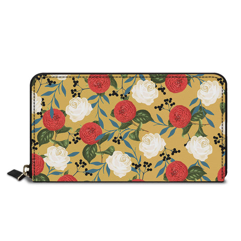 So Many Flowers Classic Zipper Wallet