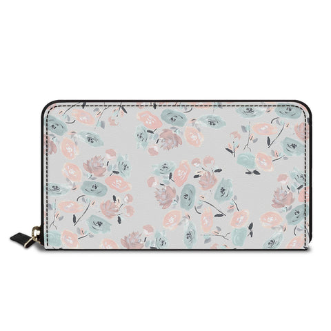 Blurred Flowers Classic Zipper Wallet