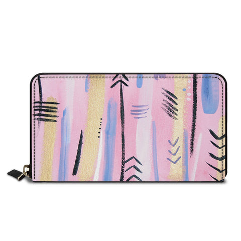 Arrow Shapes Classic Zipper Wallet