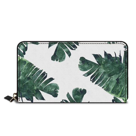 Palm Leaves Classic Zipper Wallet