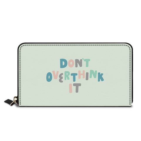 Don't Overthink It Classic Zipper Wallet