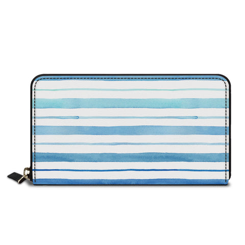 Blue Horizontal Classic Zipper Wallet