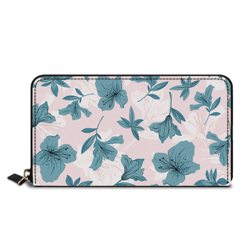 Flower Print Classic Zipper Wallet
