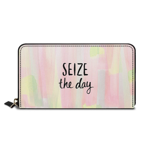 Seize The Day Classic Zipper Wallet