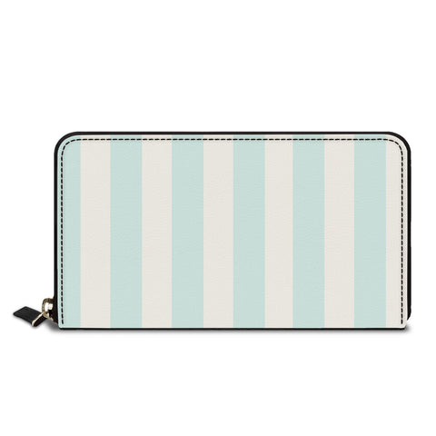 Sky Blue Stripes Classic Zipper Wallet
