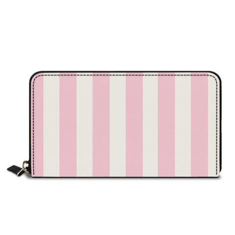 Pink Stripes Classic Zipper Wallet
