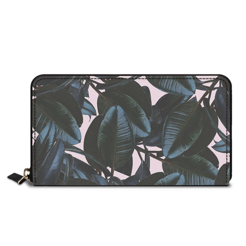 Dark Leaves Classic Zipper Wallet