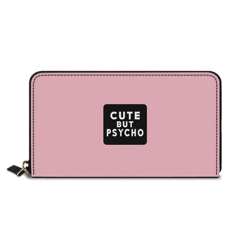 Cute But Psycho Classic Zipper Wallet