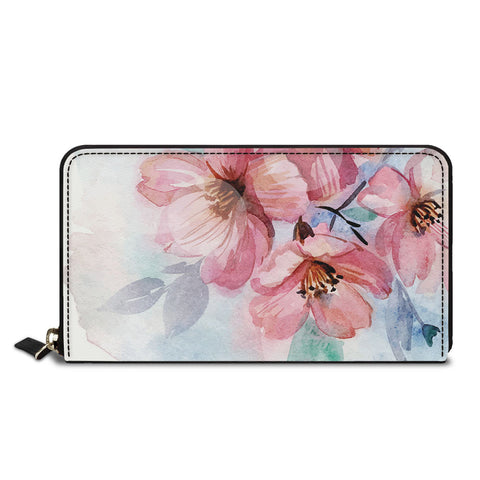 Pinkish Flowers Classic Zipper Wallet