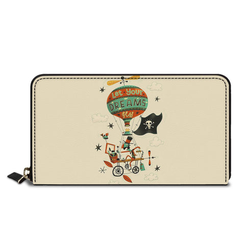 Let Your Dreams Fly Classic Zipper Wallet