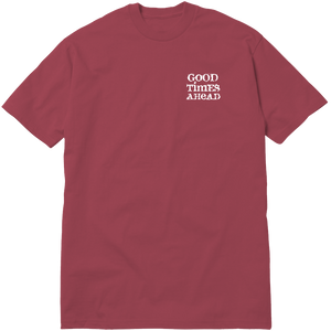 AFTER HOURS TEE - BURGUNDY