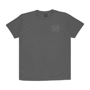 STACKED TEE - GREY