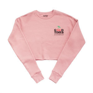 CHERRY CROPPED CREW NECK - BLUSH PINK