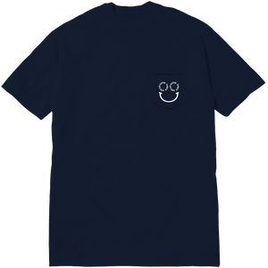 SMILE POCKET TEE - NAVY