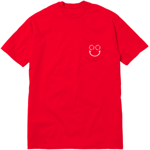 SMILE POCKET TEE - RED