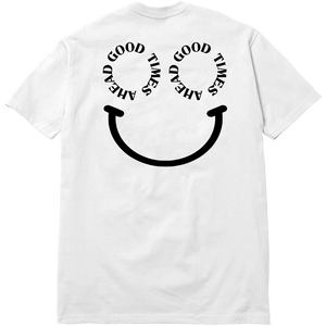 SMILE POCKET TEE - WHITE