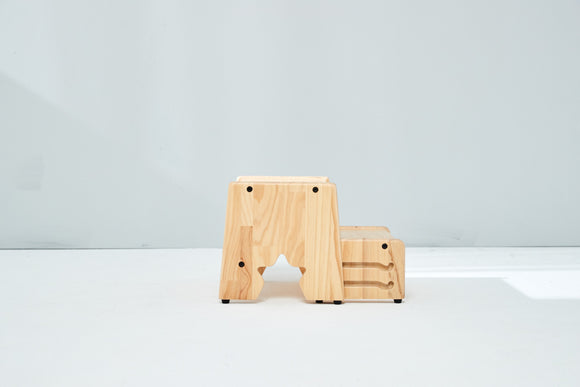 Solid Wood 2 Steps Stool (November Preorder Only!) - Bunnytickles